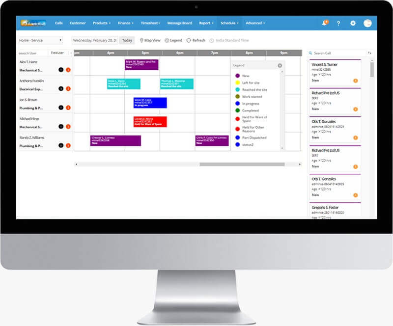realtime job scheduling software
